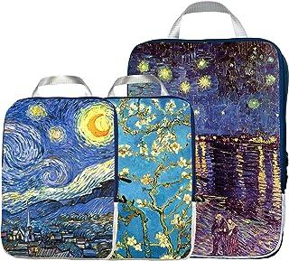 حقيبة منظمة للسفر - مكعبات تعبئة مضغوطة لأمتعة كاري أون (3 ألوان متعددة)