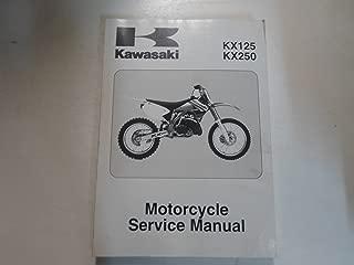 2003 2008 Kawasaki KX125 KX250 Motorcycle Service Repair Shop Manual STAINED