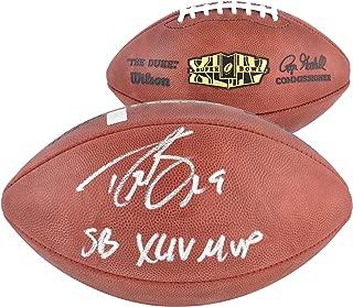 Drew Brees New Orleans Saints Autographed Super Bowl XLIV Logo Football with