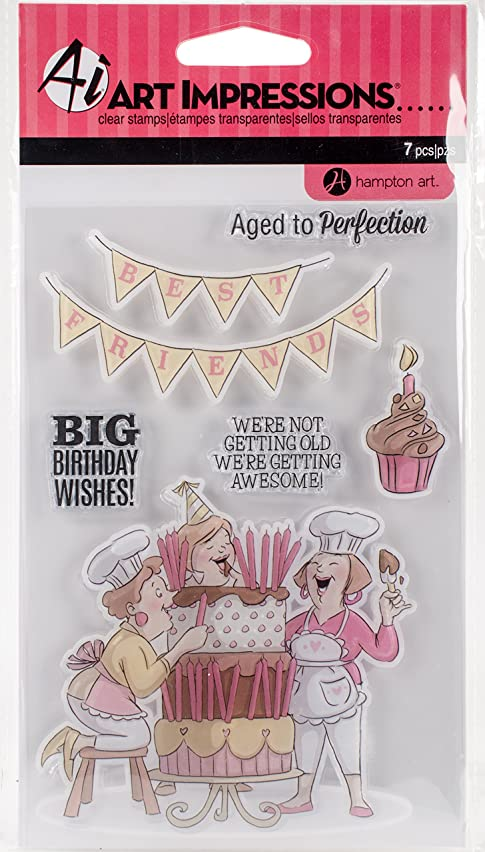 Hampton Art Big Birthday Wishes Art Impressions Clear Rubber Stamps (SC0794)