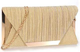 LIGUL Abend Taschen Damen,Gold Donna Clutch,Borsa Donna Elegante,Silber Abend Tasche für Frauen Shining Abend Handtasche f...