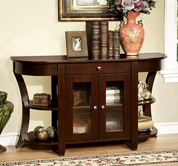 Furniture Of America Cartwright Transitional Console Table Dark Cherry
