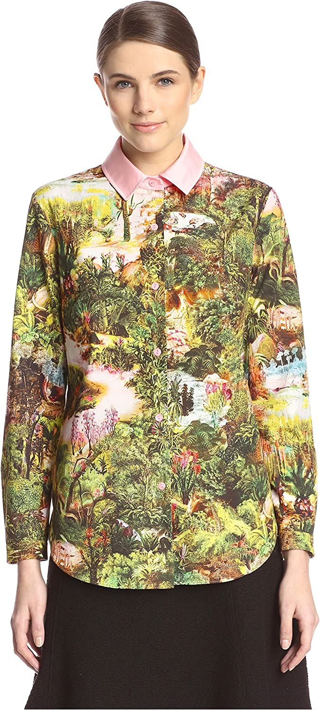 Carven Women's Printed Poplin Shirt