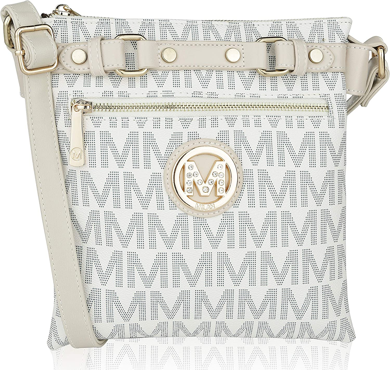 MKF Crossbody Bags for women - Adjustable Shoulder Strap - PU Leather Handbag - Crossover Side Messenger Purse