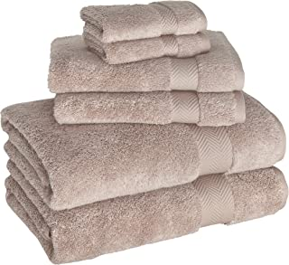 Towels Beyond Cotton Towel Set - 6 Pieces for Bath Hands Hotel and SPA, High Absorbent Durable Soft and Luxury (Beige)