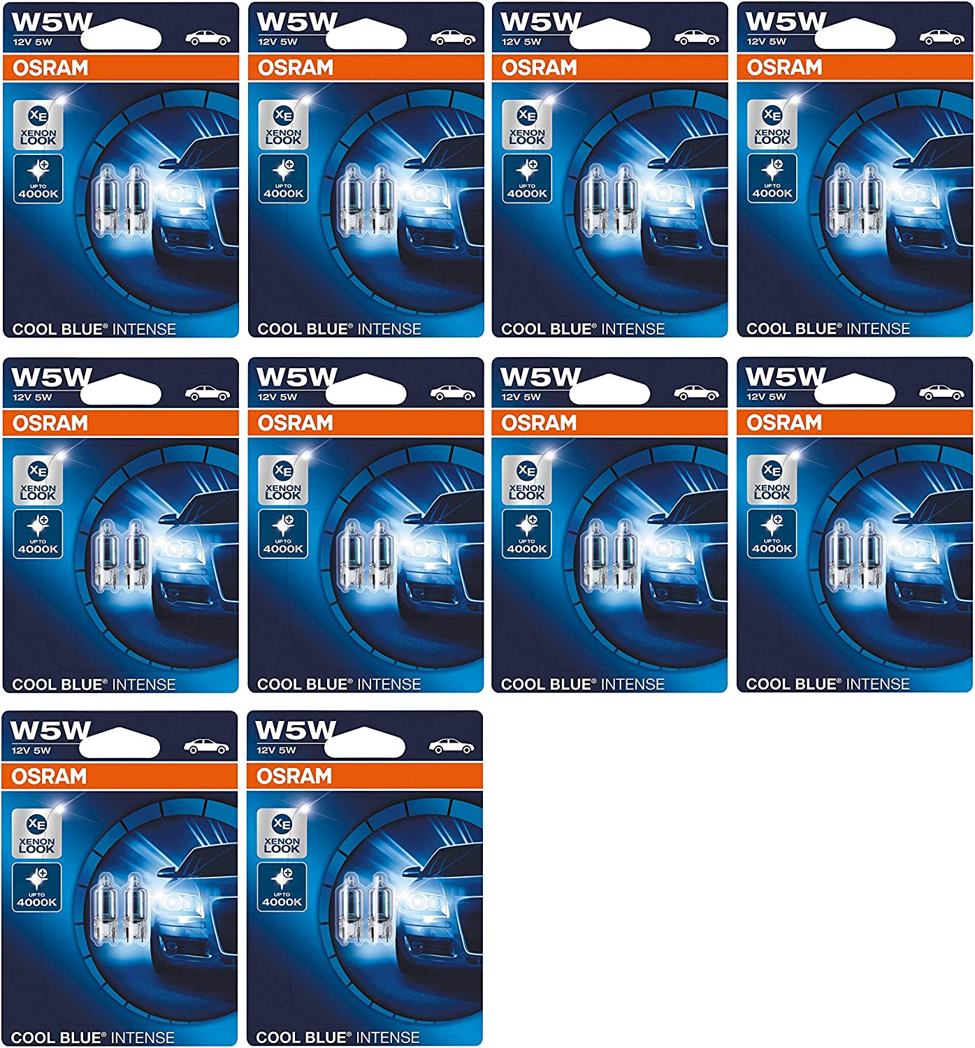 2x Ford Fusion Ju Genuine OSRAM Cool Blue Intense Number Plate Lamp Light Bulbs