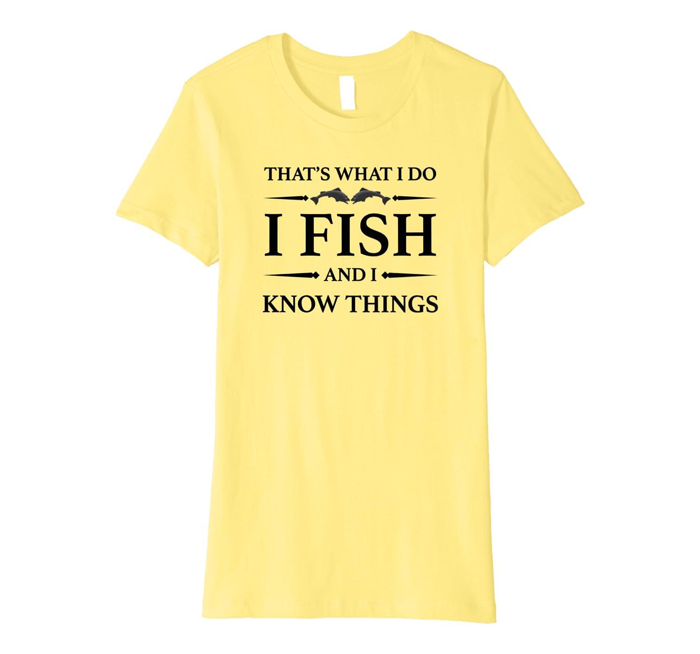 Fishing Shirt Funny Love to Fish Gift Idea for Men and Women Premium T-Shirt Unisex Tshirt