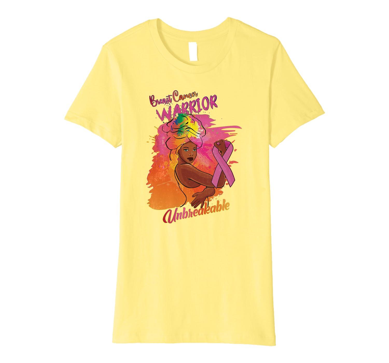 African American Breast Cancer Unbreakable Black Women Gift Premium T-Shirt