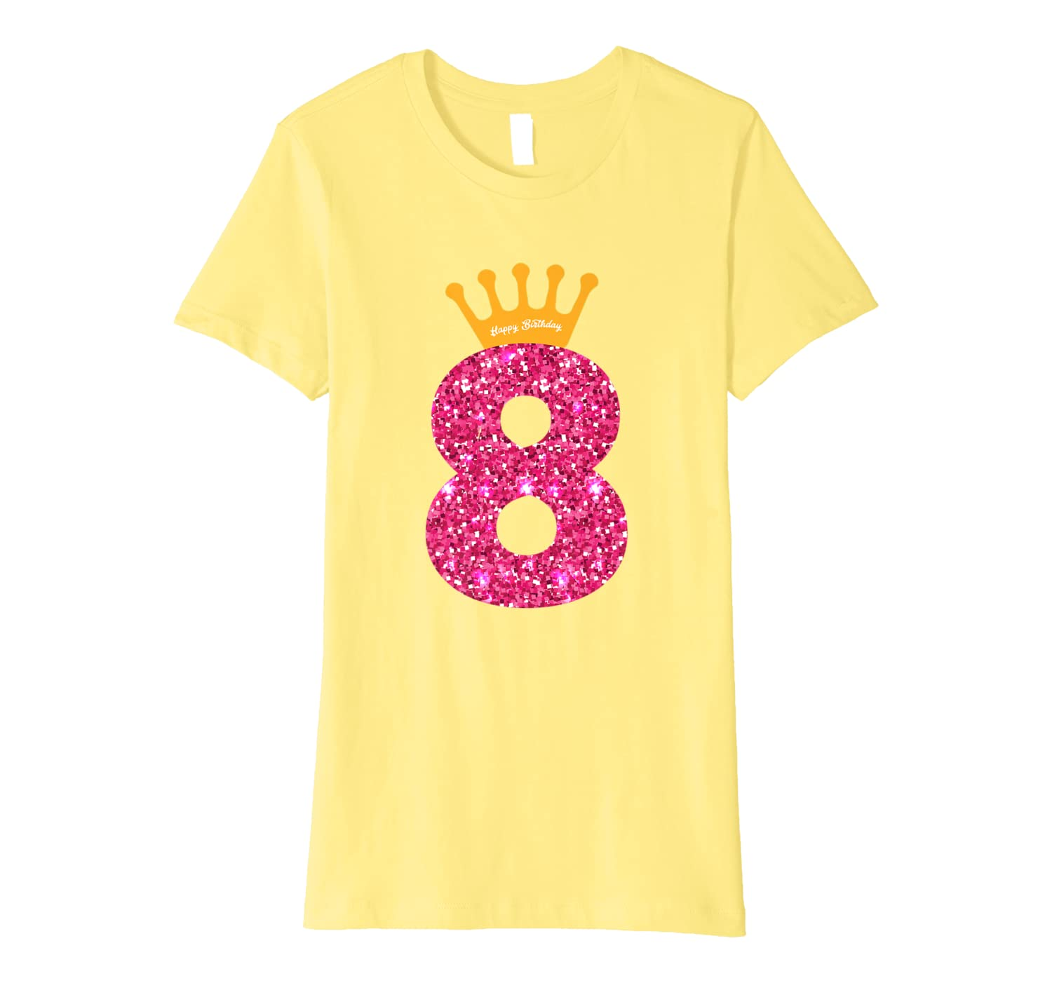 1e45e7e5dde31 Happy Birthday Shirt, Girls 8th Party 8 Years Old Bday