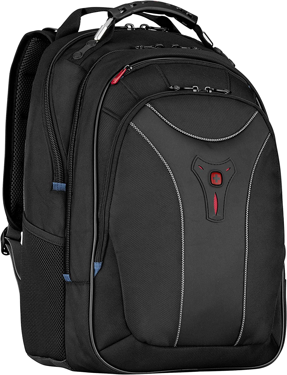 SwissGear Carbon II Black Notebook Backpack-Fits Apple MacBook Pro 15 inch and 17 inch