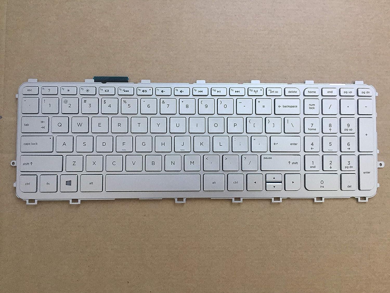 Keyboards4Laptops German Layout Silver Frame Backlit Black Windows 8 Laptop Keyboard Compatible with HP Envy 15-j134na HP Envy 15-J140NA HP Envy 15-j135TX HP Envy 15-j137TX HP Envy 15-j140eb