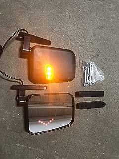Maverick Advantage Universal Golf Cart LED Side View Mirrors w/Integrated Turn Signals