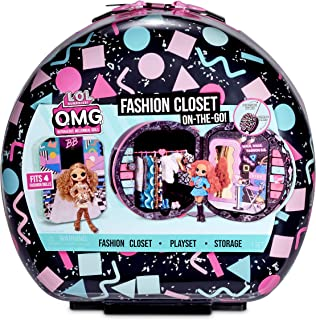 [NEW] L.O.L 서프라이즈 OMG 패션 클로짓 온더고 세트 L.O.L. Surprise! O.M.G. Fashion Closet On-The-Go Rolling Storage fits 4 Fashion Dolls Plus Accessories