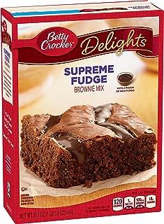 Betty Crocker Delights, Supreme Fudge Brownie Mix, 19.1 Oz Box (Pack of 8)
