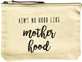Mud Pie Women's Fashion Mother Mom Case (Motherhood) Canvas Pouch, One Size, Off White