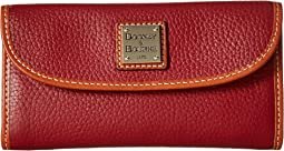 Pebble Leather New SLGS Continental Clutch
