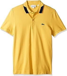 Lacoste Men's S/S Pique Regular Fit Printed Color Polo