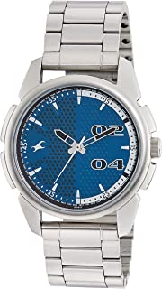 Fastrack Casual Watch for Men, Analog, Stainless Steel, 3124SM03