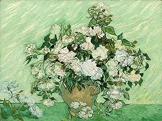 Roses by Vincent Van Gogh Accent Tile Mural Kitchen Bathroom Wall Backsplash Behind Stove Range Sink Splashback One Tile 10