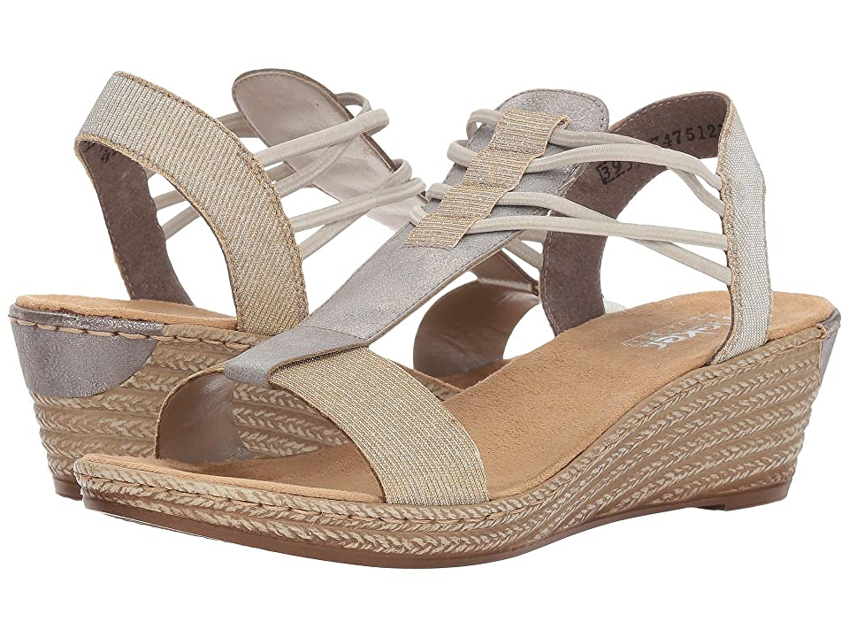 Rieker 62422 Fanni 22 (Light Gold/Grey) Women