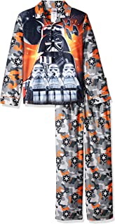 Star Wars Boys Coat Pajama Set, Button Front Top, with Pant