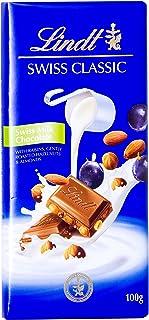 Lindt Swiss Classic Milk Raisin Nut Chocolate, 100 gm