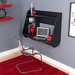 Prepac Kurv Floating Desk, Black (BEHW-0901-1)