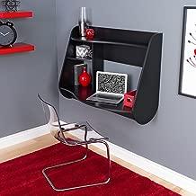 Prepac Kurv Floating Desk, Black