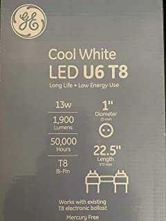 General Electric Cool White LED U6 T8