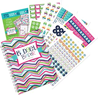 $29 » Budget Binder 12-Month Budget Planner with Pockets + Sticker Set | Expense Tracker | Undated Monthly Bill Organizer | Pers...