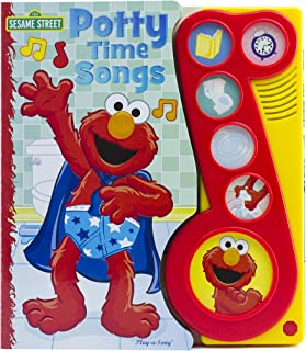 Sesame Street - Elmo Potty time Songs Little Music Note Sound Book - PI Kids