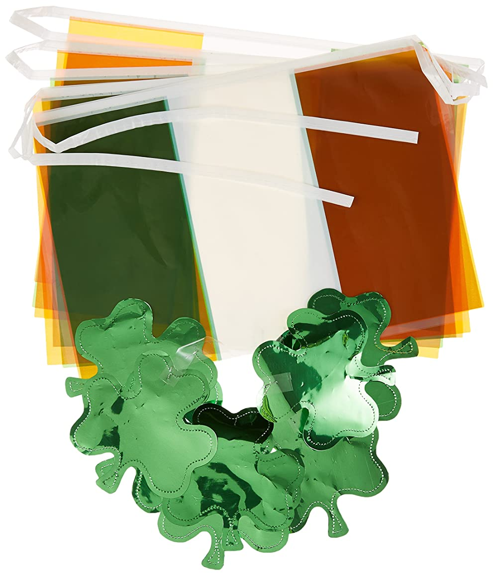 Flags & Shamrocks Banner Party Accessory (1 count) (1/Pkg)