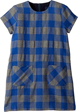 Flannel Check Shift Dress (Toddler/Little Kids/Big Kids)