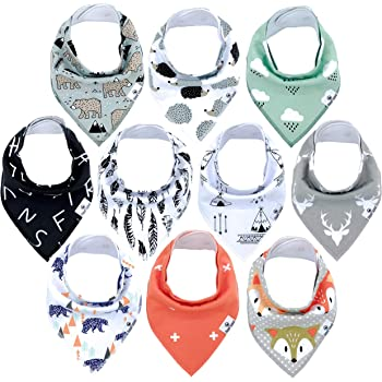 Baby Dribble Bibs Boys Girls Newborn to 6 Months Approx Pack of Two