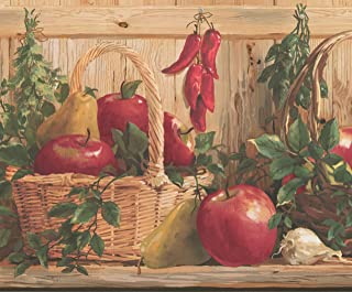 Brewster 418B294 Borders and More Fallen Apples Wall Border 6.825-Inch by 180-Inch