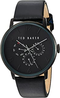 Ted Baker London 'JAMES' Stainless-Steel Case and Analogue Quartz Men's Leather Strap Watch TE10030763