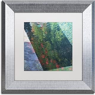 Inspired by Monet by Kurt Shaffer, White Matte, Silver Frame 11x11-Inch