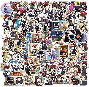 100PCS Kikis Delivery Service Stickers Studio Ghibl_i Stickers Haya_o Miyazak_i Anime Stickers Waterproof Vinyl Stickers Skateboard Luggage Stickers for Kids Teens Adults