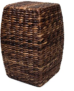 BIRDROCK HOME Seagrass Accent Stool - Made of Hand Woven Seagrass - 21 inch Stool