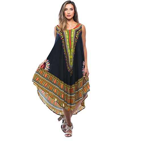 4028e9b671b Riviera Sun African Print Dashiki Dress for Women