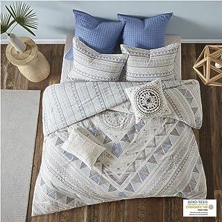 Urban Habitat Rochelle Teen Boys Duvet Cover Full/Queen Size - Blue , Geometric – 7 Piece Teen Boy Bedding – 100% Cotton L...