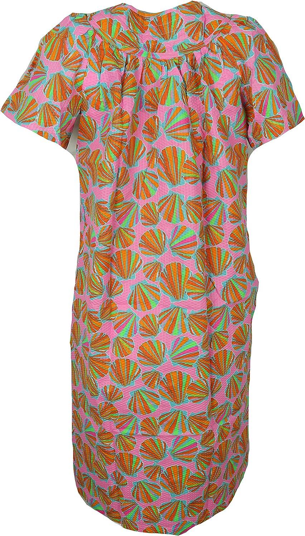 Elegant Emily Womens Cotton Blend House Dress Duster Robe Snap Front Pockets