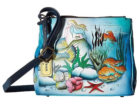 Anuschka Handbags 525 Triple Compartment Convertible Tote Little Mermaid Exclusive pHZKb