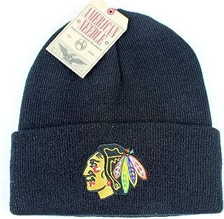 Chicago Blackhawks NHL American Needle Basic Beanie Knit Hat - Black