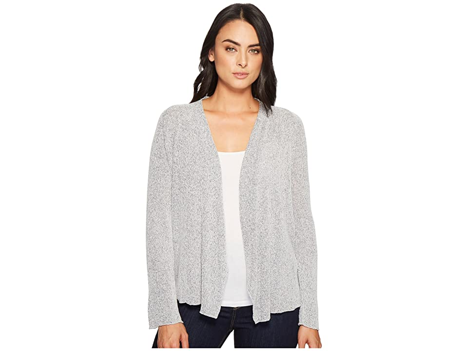 Three Dots Boucle Sweater Knit Cardigan (Night Iris) Women