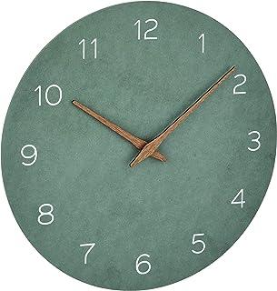 TFA Dostmann Reloj de Pared analógico, 60.3054.04, Efecto Madera, Movimiento de Cuarzo con batería de Larga duración, Verd...