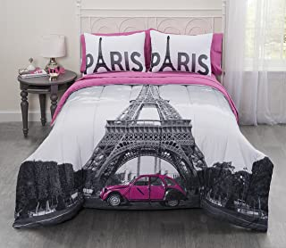 Casa Photoreal Paris Eiffel Tower Bed-in-a-Bag, Queen
