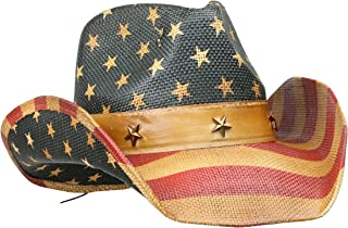 rebel flag straw cowboy hat