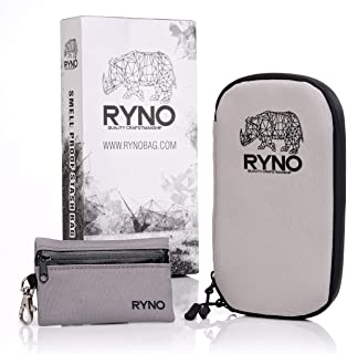 RYNO Smell Proof Travel Stash Bag W/Combo Lock - Comes with Smaller 100% smell proof Pouch for on the go ! This Container ...
