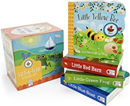 Nature Friends Lift-a-Flap Boxed Set 4-Pack: Little Red Barn, Little Blue Boat, Little Green Frog, and Little Yellow Bee (...